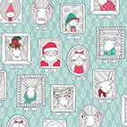 Mingle and Jingle Santa's Crew Pictures Patches 25917-K by QT Fabrics