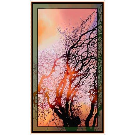 Fabric Cotton Panel ARTWORKS VI AT DAWN TREE PANEL(24)