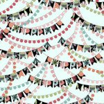 Piece Of Cake BANNERS Light Aqua by Sheree Burlington for Quilting Treasures