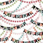 Piece Of Cake BANNERS WHITE by Sheree Burlington for Quilting Treasures