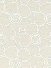 Fabric Cotton Remnant Backing 24 x 108 Classic Cottons 108'' Backing White on Tan Funky Floral