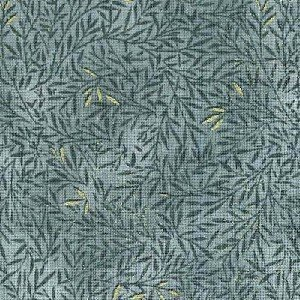 Fabric Cotton Blank Quilting Guilded Greenery Sage BTR3708-M 100% Cotton - 44''/45'' wide