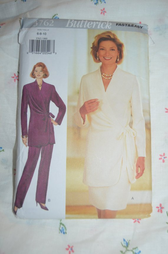BUTTERICK 3762 FAST & EASY TUNIC PATTERN SIZES  6-8-10