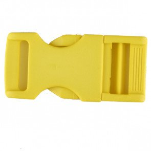 Buckle For 1 inch webbing plastic fastener - Size: 30mm - Color: yellow - Art.-Nr.: 400263