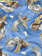 Fabric Cotton Nativity Exclusively Quilters 61276-2 Blue Angels