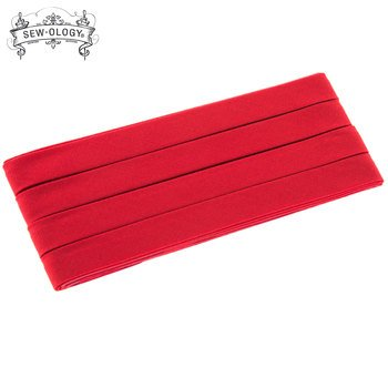 Bias Tape Extra Wide Double Fold Bias Tape 1/2 inch 3 yards Scarlet Sew-Ology