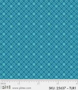 P&B Basically Hugs 100% Cotton - Turquoise #25637 TUR1
