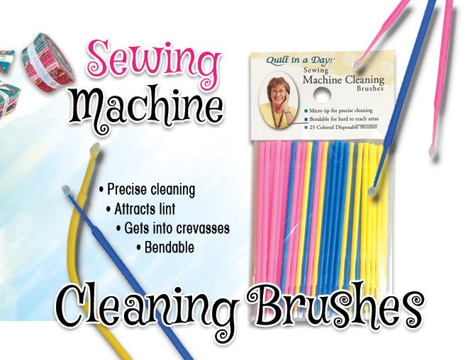 Sewing Machine Cleaning Brushes disposable 25 qty