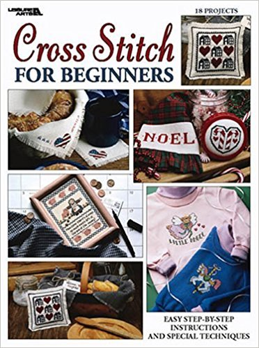 Booklet Leisure Arts-Cross Stitch For Beginners Leaflet 2072