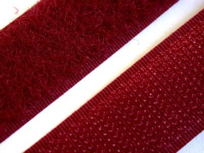 PILE LOOP 100% NYLON Velcro 527, bordeaux