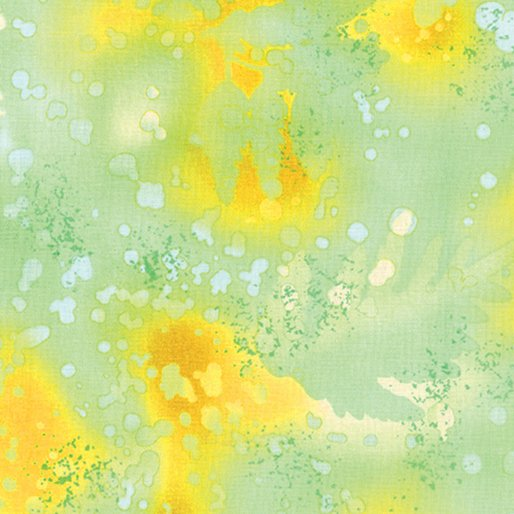 Fabric Cotton Fossil Fern 00528-84 Golden Lime