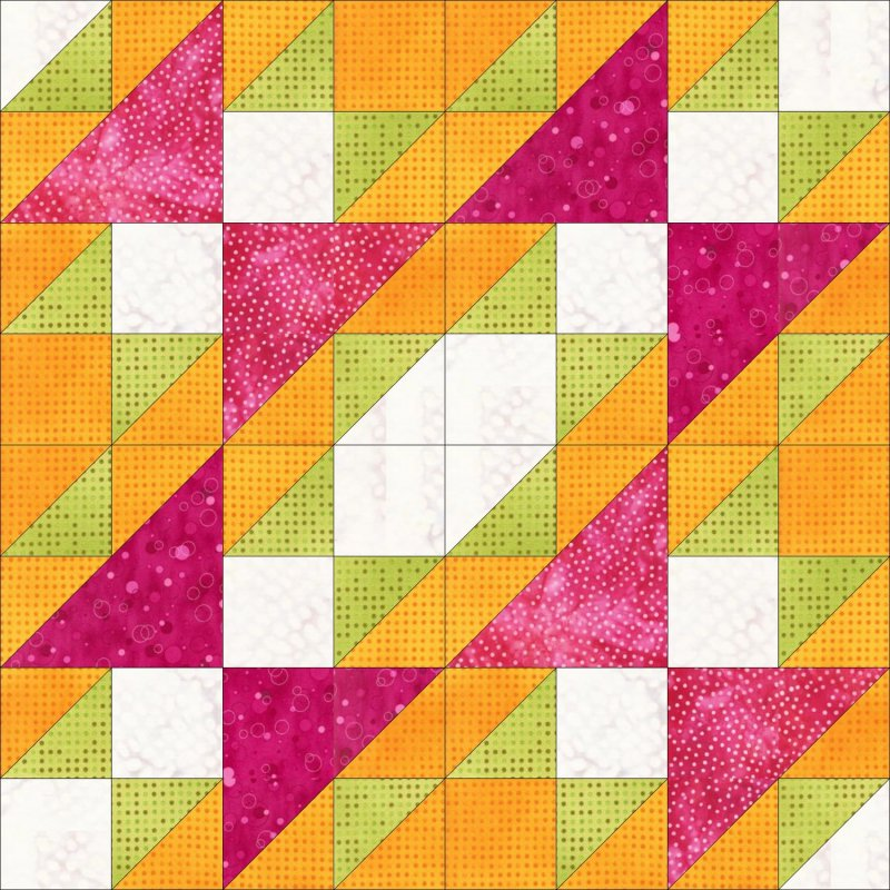 Accuquilt Go! Cutting Die Geometric Half Square Triangle 2 Finished Square?Multiples 55063