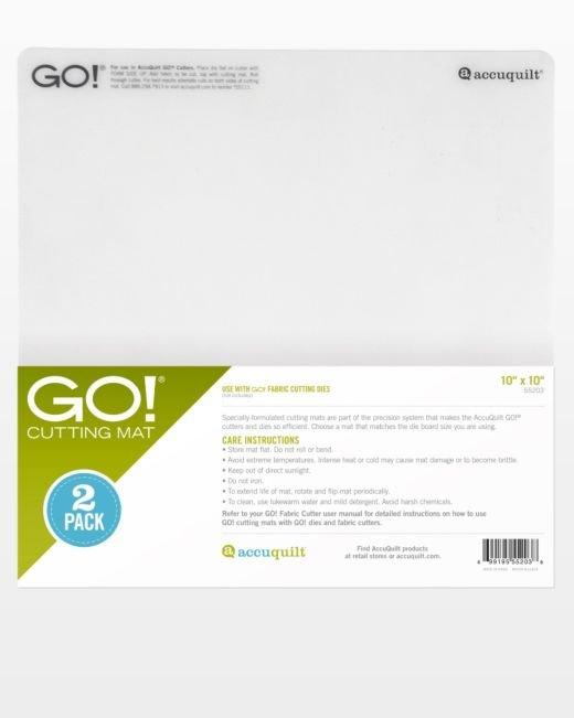 Accuquilt GO! Cutting Mat 55203 10 inch x 10 inch (2-Pack)