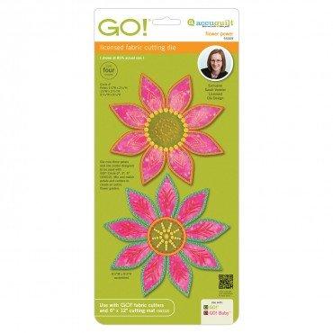 Accuquilt GO! Cutting Die Licensed Flower Power by Sarah Vedeler 55309
