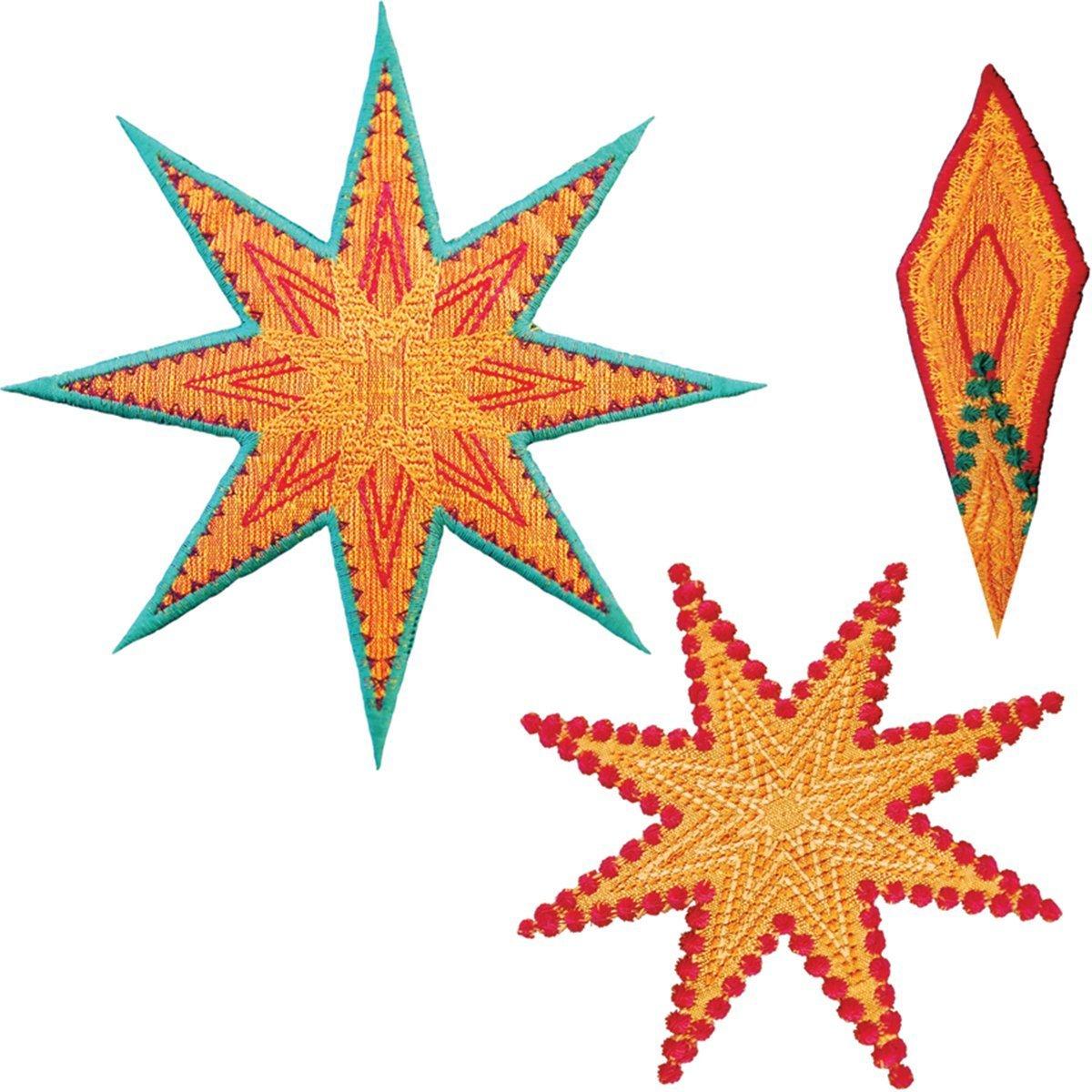 Accuquilt GO! Cutting Die Licensed Star 8 Point by Sarah Vedeler 55315