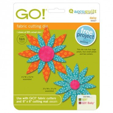 Accuquilt Go! Cutting Die Applique Daisy 55327