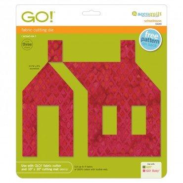 Accuquilt Go! Cutting Die Applique Schoolhouse 55344