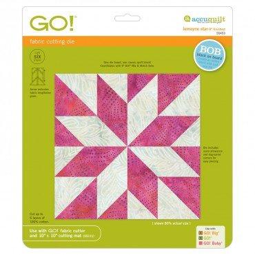 Accuquilt Go! Cutting Die Classic BOB Lamoyne Star 9 Finished 55453