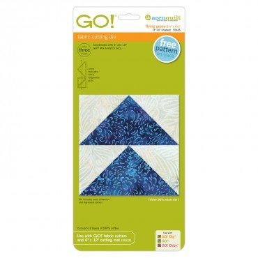Accuquilt Go! Cutting Die Geometric Flying Geese 3 1/2 x 6 1/2 (3 x 6 Finished) 55456