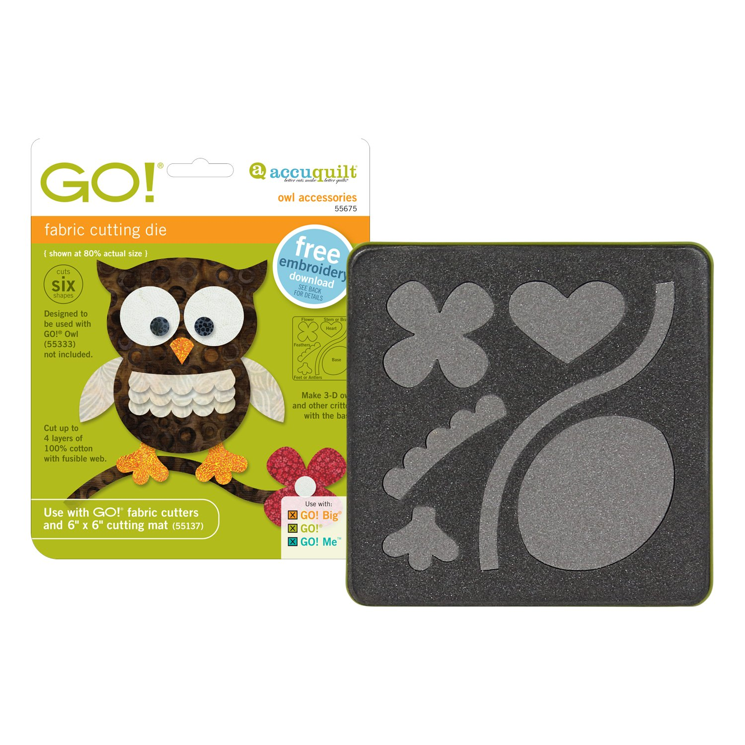 Accuquilt Go! Applique Die GO! Owl Accessories