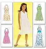 Childrens Girls Dresses McCall's Sewing Pattern M5574 Size CHH 7 8 10 12 New