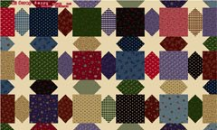 Exclusively Quilters Scrap Happy Quilt Cheater Fabric