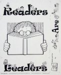 Readers are Leaders Quilt PRE-PRINTED PANEL BLACK INK on WHITE