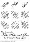 Faith Hope And Love 647BN 18in x 20in Panel Natural With Black Writing Block Party Studios
