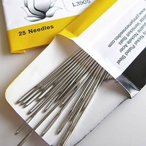 John James Hand Needles Tapestry Pointed Short Beading #12 Qty 25 per package