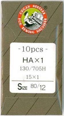 Organ Sewing Machine Needles Organ Flat Shank 15x1 Regular Point size 80/12 10/pkg