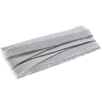 Extra Wide Double Fold Bias Tape 1/2 inch 3yds Silver Metallic
