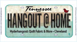 Row by Row Plate 2016 License plate Hangout@Home