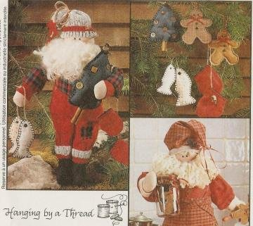 CHRISTMAS DOLL & ORNAMENTS  PATTERN McCall's  ONE SIZE ONLY