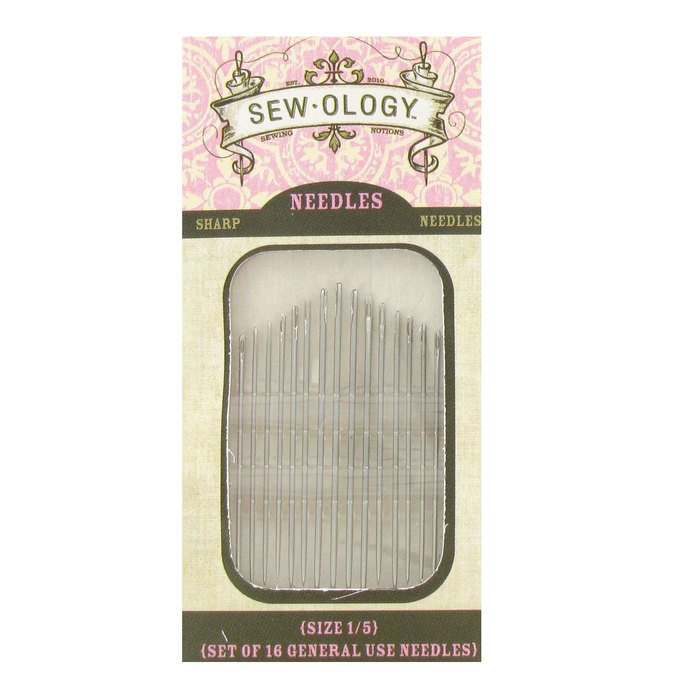 Sew-Ology Size 1/5 Sharps Hand Needles