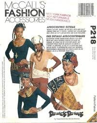 Pattern accessories AFRO-CENTRIC FASHION PATTERN McCall's  7463 ONE SIZE ONLY