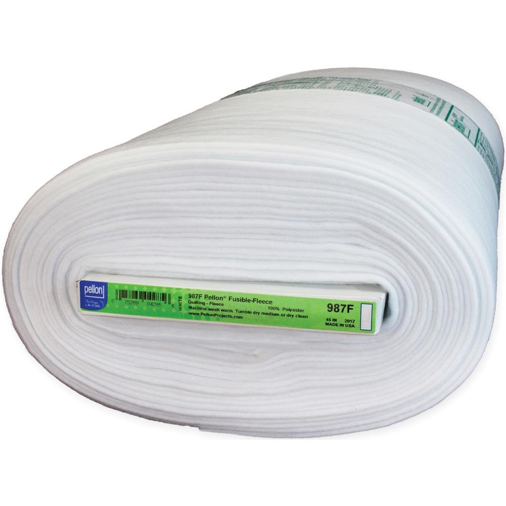 Pellon 987F Fusible Fleece White 45 by the yard