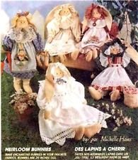 Craft Sewing Pattern Home Decor and DOLLS PATTERN McCall's 7534 Heirloom Bunnies by Michelle Hains