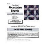 Pineapple Foundation Sheets 12 blocks