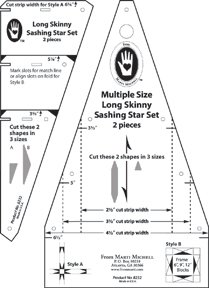Long Skinny Sashing Star Template Set