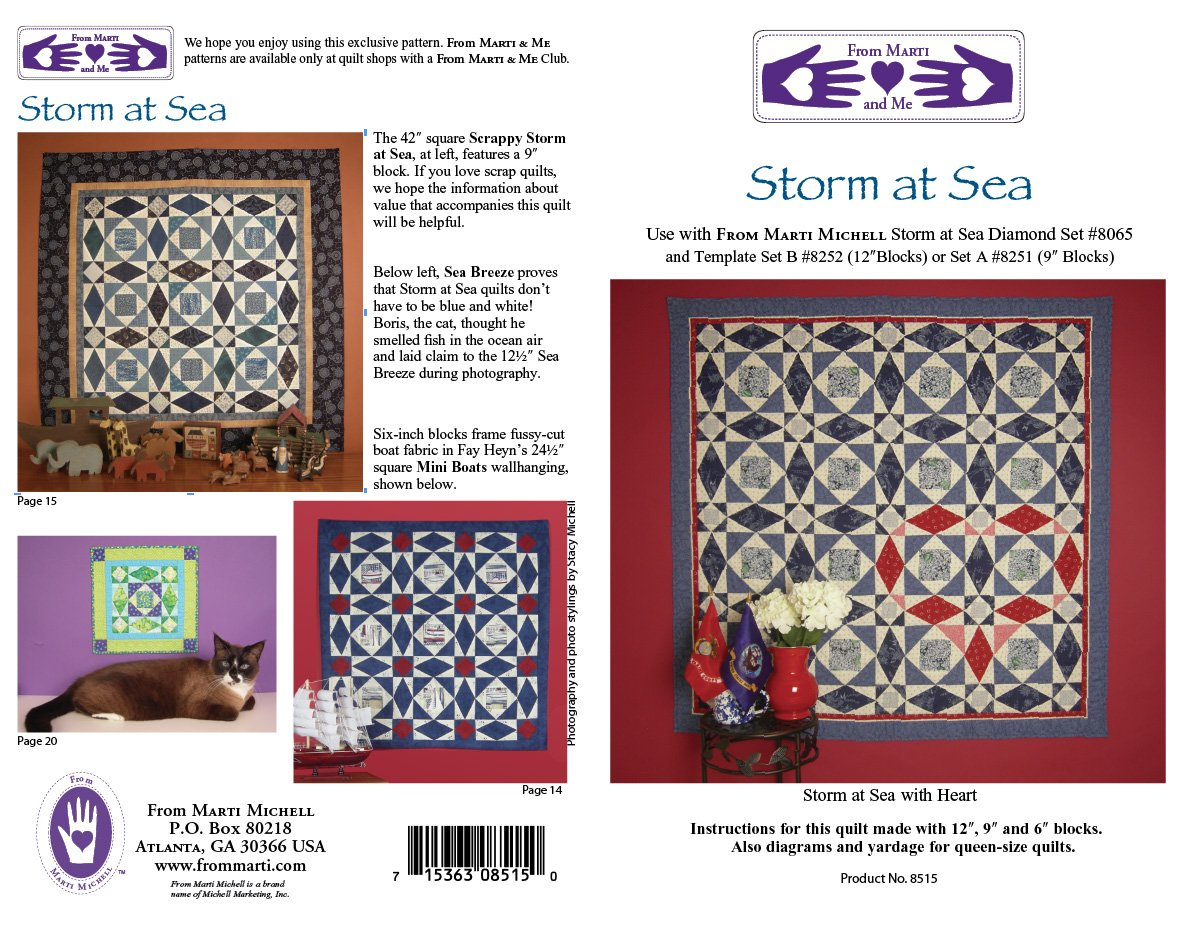 Storm at Sea Quilt Pattern Marti Michell