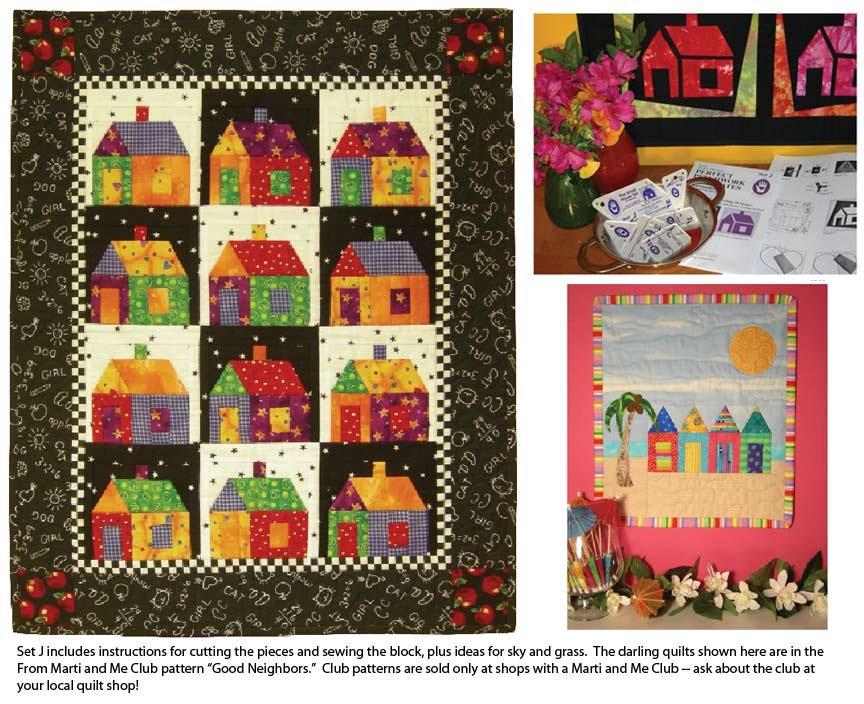 Set J Small House Templates Marti Michell