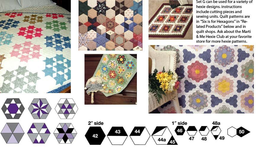 Template Set G, Small Hexagons Marti Michell