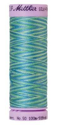 Thread Mettler Silk-Finish 50wt Variegated Cotton Thread 109yd/100M 9075 9814 1075 Seaspray