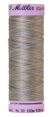 Thread Cotton Mettler Silk-Finish 50wt Variegated Cotton Thread 109yd/100M 9075-9843 Silvery Blues