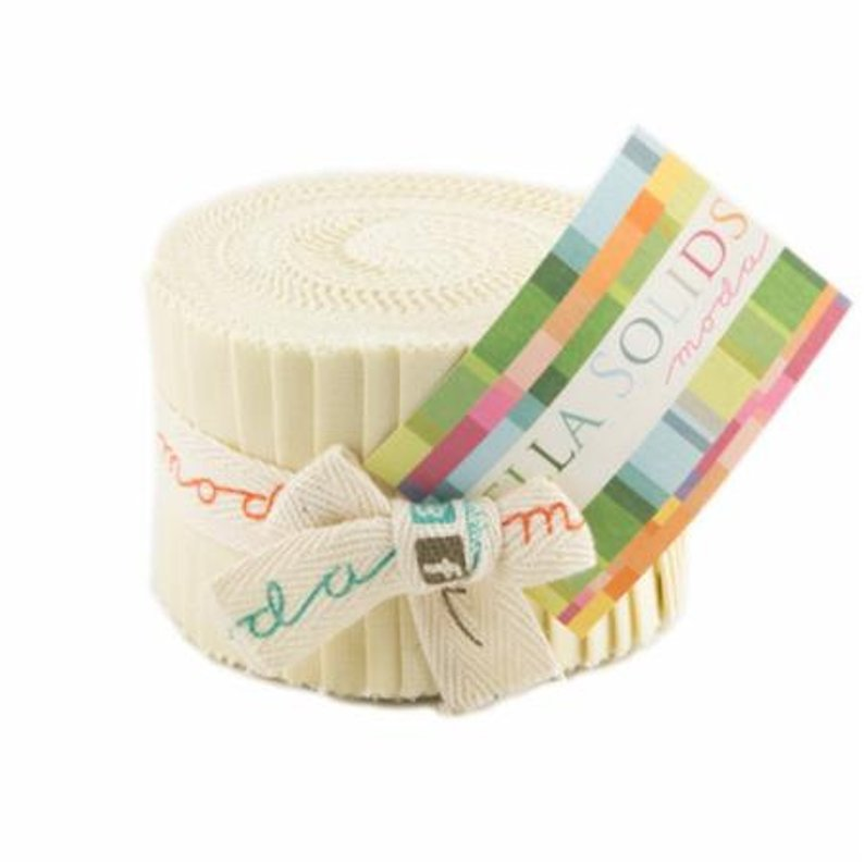 Junior Jelly Rolls 2 1/2 inch strips 20 pieces Bella Solids #9900JJR-67 by Moda