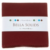 Fabric Charm Pack 5 squares 42 count Moda Bella Solids Burgundy #9900PP-18