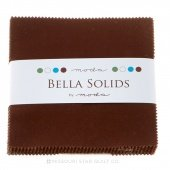 Fabric Charm Pack 5 squares 42 count Moda Bella Solids Brown #9900PP-71