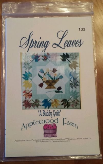 Pattern Spring Leaves A Buddy Quilt Applewood Farm