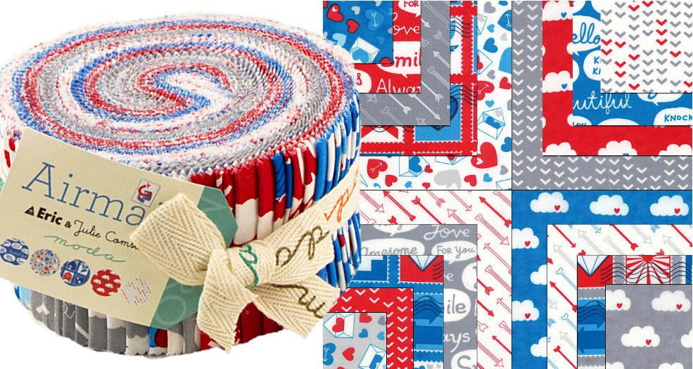 Jelly Rolls 40 -  2 1/2 stripes Moda Airmail Collection