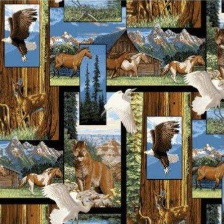 Fabric Cotton Panel Marshall Dry Goods America the Beautiful Panel 44/45'' x 35'' Panel